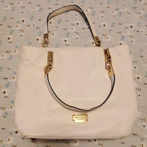 White Leather Michael Kors Shoulder Bag/Tote